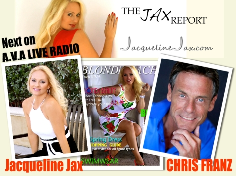 Jax Report on AVA LiveRadio Jacqueline Jax Chris Franz