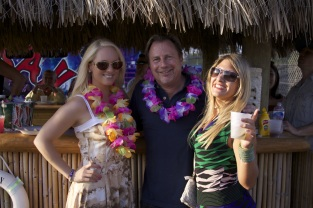Jacqueline Jax with John and Laura